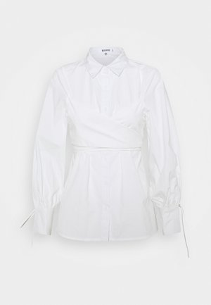 TIE WRAP DETAIL  - Button-down blouse - white