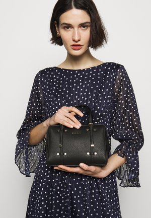 BARREL SAFFIANO - Handbag - black/gold
