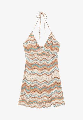 MIT RETROPRINT - Sukienka letnia - mottled light brown