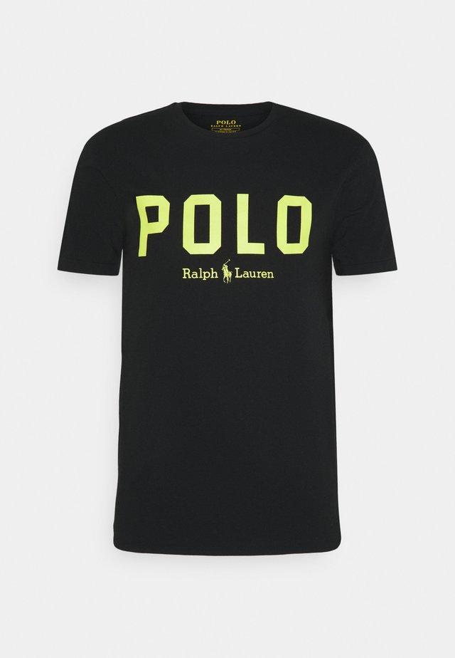 T-shirt con stampa - black/bright