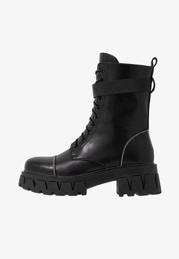 VEGAN BANSHEE - Snørestøvletter - all black