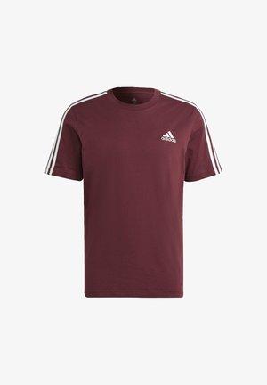 3-STRIPES SPORTS ESSENTIALS T-SHIRT - Print T-shirt - victory crimson/white