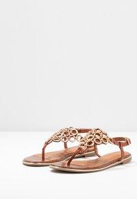 Tamaris - T-bar sandals - brandy - 4