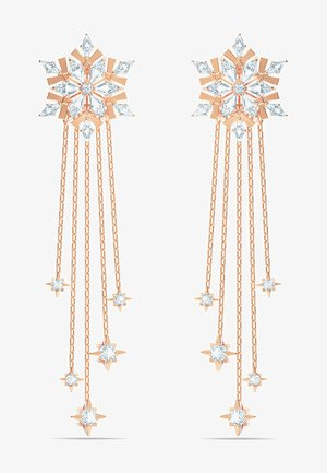MAGIC PIERCED EARRINGS, WHITE, ROSE-GOLD TONE PLATED - Ohrringe - roségold