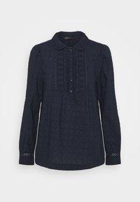 Marks & Spencer London - FRILL COLLAR - Bluser - dark blue - 0