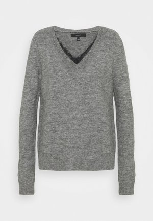 VMIVA V NECK - Pullover - medium grey melange