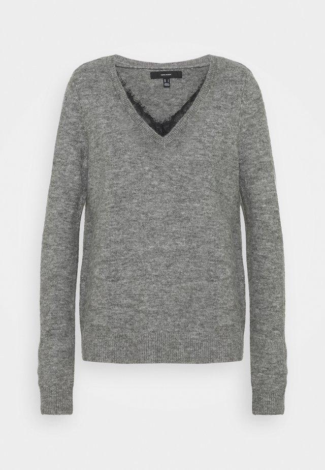 VMIVA V NECK - Pullover - medium grey melange