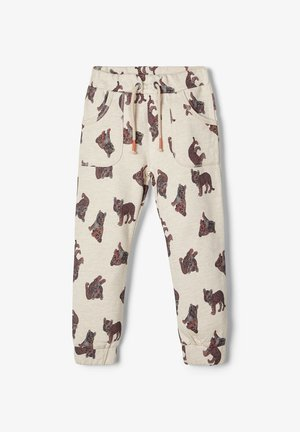 SWEATHOSE TIGERPRINT - Tracksuit bottoms - peyote