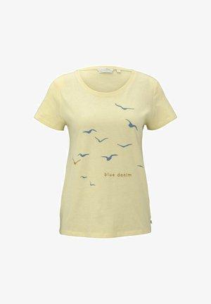 Print T-shirt - soft yellow
