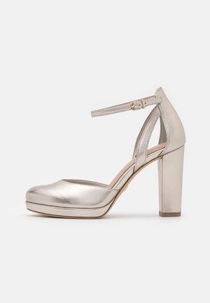 Platform heels - light gold