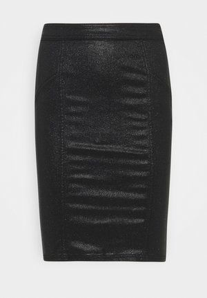 PCSKIN PARO SKIRT  - Pencil skirt - black