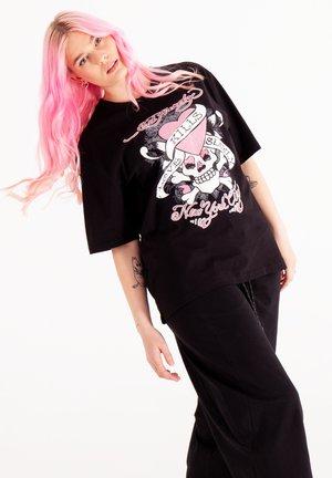 SKULL LOVE - T-shirt con stampa - black