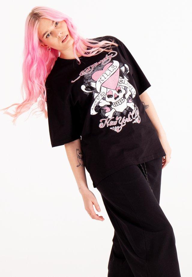 SKULL LOVE - T-shirt print - black