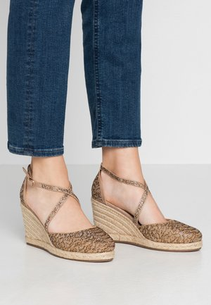 High heeled sandals - vison