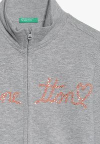Benetton - JACKET - Zip-up hoodie - grey - 3