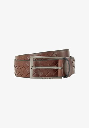 Braided belt - dark brown
