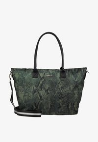Codello - SNAKE PRINT SHOPPER - Tote bag - bottle green - 5