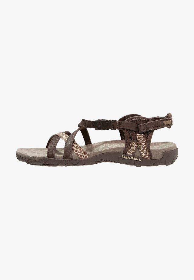 TERRAN LATTICE II - Walking sandals - dark earth
