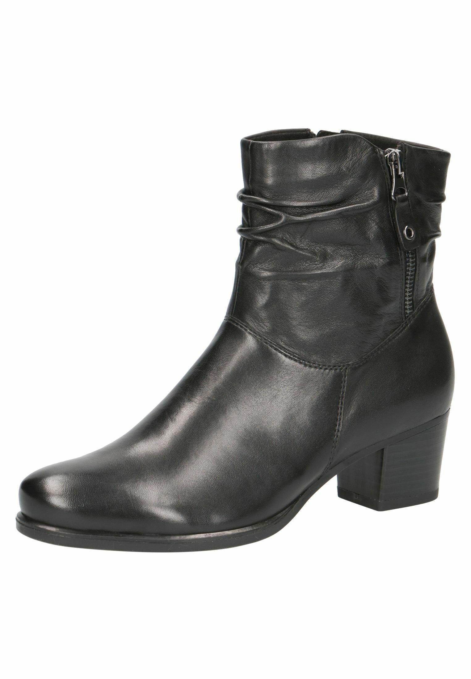 Caprice STIEFELETTE Ankle Boot black soft nap/schwarz