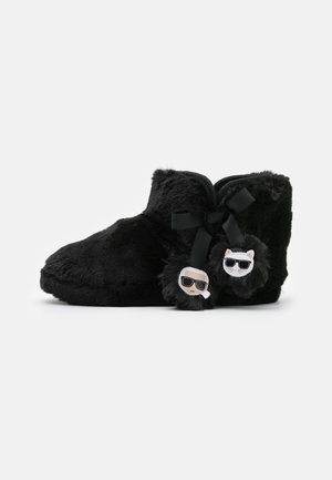 KASA TWIN POMPOM BOOT - Slippers - black