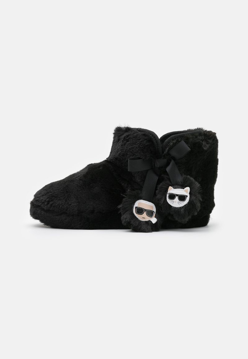 KARL LAGERFELD - KASA TWIN POMPOM BOOT - Slippers - black
