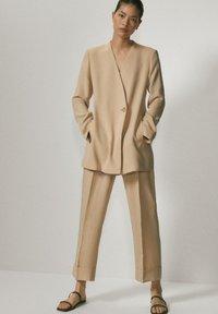 Massimo Dutti - Trousers - beige - 0
