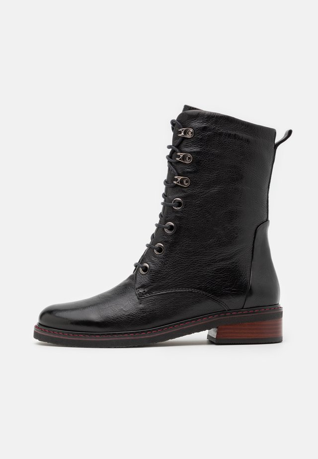 OROBANCHE - Lace-up ankle boots - black