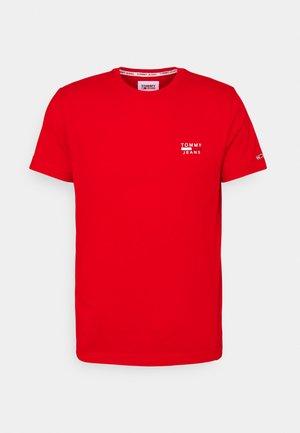 CHEST LOGO TEE - T-shirt - bas - deep crimson