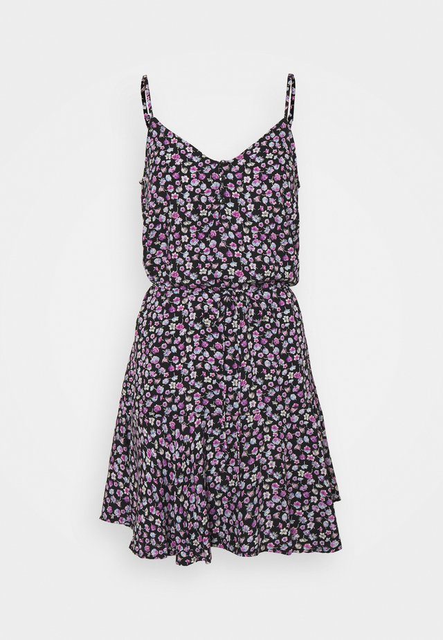 PCNYA SLIP BUTTON DRESS - Korte jurk - black