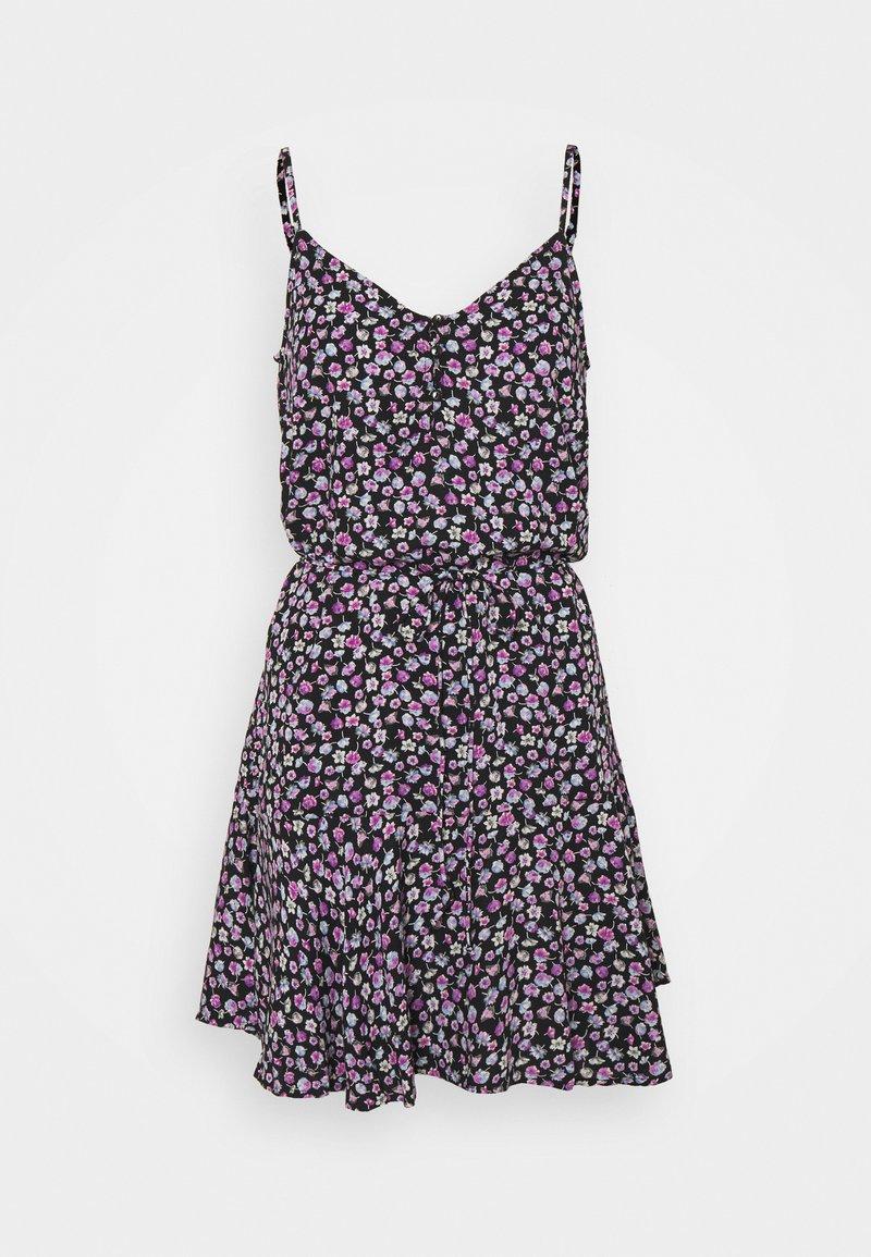 Pieces Petite - PCNYA SLIP BUTTON DRESS - Day dress - black
