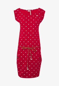 TAG DOTS - Jersey dress - red