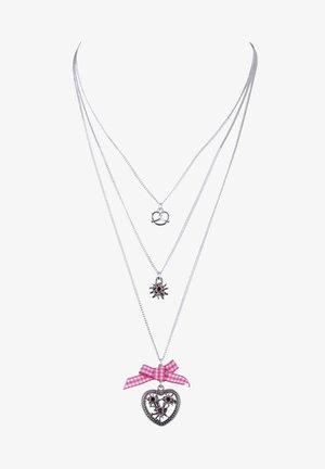 LAYERING-KETTE MIT BREZEL-MOTIV - Necklace - rosafarben