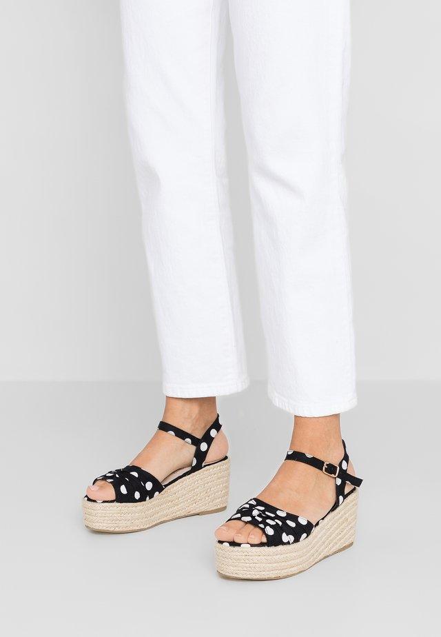 JULIUS - Platform sandals - noir