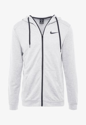 DRY HOODIE  - Mikina na zip - dark grey heather/black