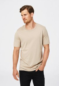 Selected Homme - SHDTHEPERFECT - T-paita - sand - 0