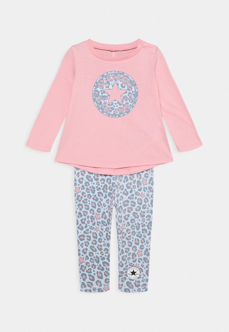 Converse - LEOPARD SET - Leggings - Trousers - coastal pink