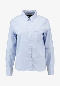 Banana Republic - QUINN RIBBON PLACKET - Button-down blouse - light blue - 4