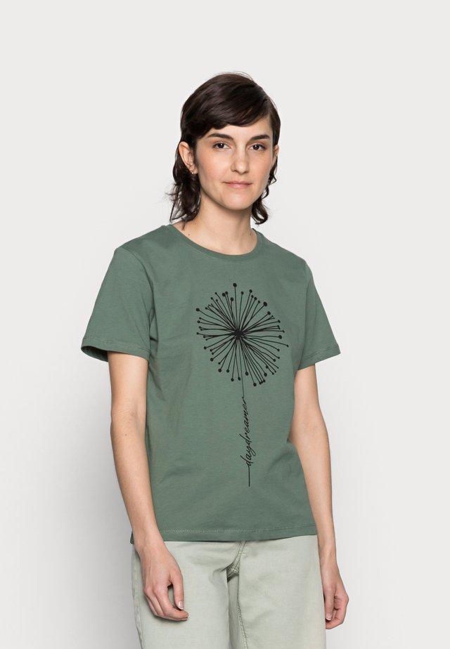 HATTIE - Print T-shirt - green