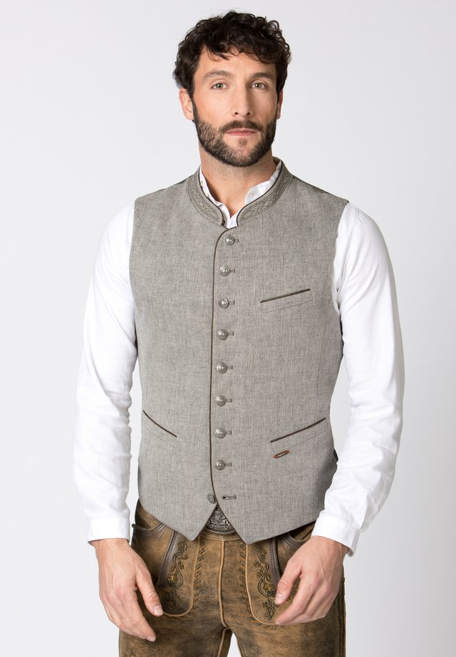 Waistcoat - gray/green