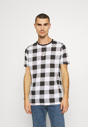 DERULO - T-shirt con stampa - black/white