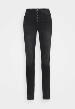 ONLBLUSH LIFE BUTTON  - Jeans Skinny Fit - black