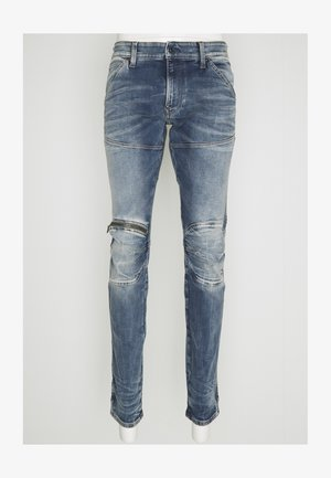 ZIP KNEE - Skinny džíny - light blue denim