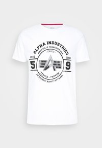 Alpha Industries - AUTHENTIC VINYL  - Print T-shirt - white - 0