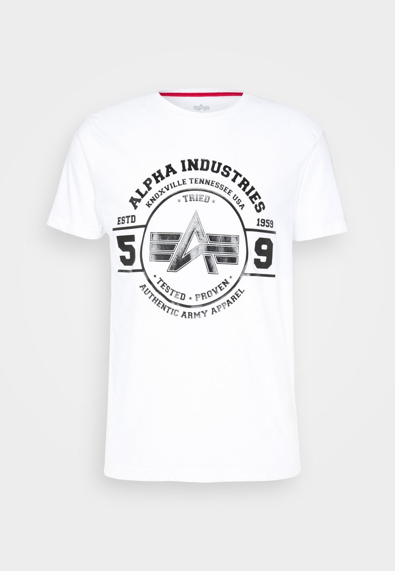 Alpha Industries - AUTHENTIC VINYL  - Print T-shirt - white