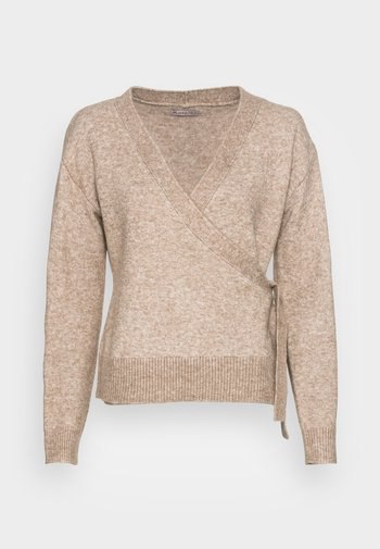 LOOSE FIT WRAP  - Neule - taupe