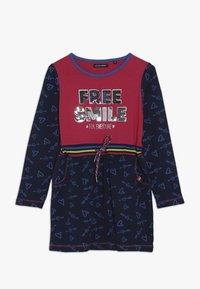 Lemon Beret - SMALL GIRLS DRESS - Jerseyjurk - rasberry sorbet - 0
