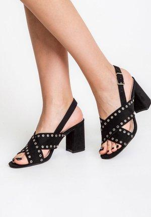QUADRI - High heeled sandals - black