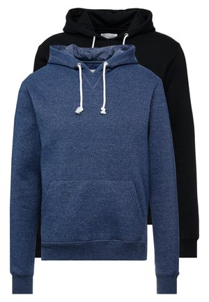 2 PACK - Sweat à capuche - dark blue/ black