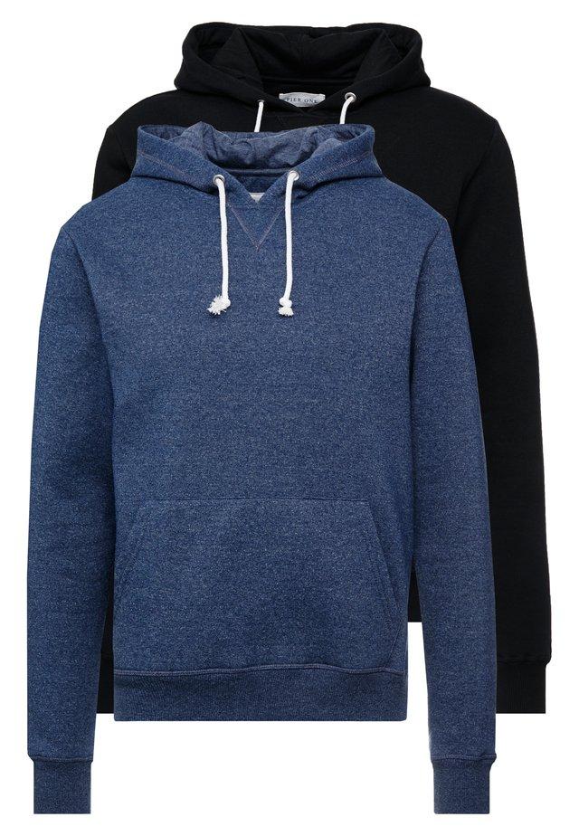 2 PACK - Hoodie - dark blue/ black
