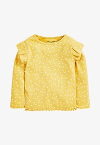 Next - RIB FRILL LONG SLEEVE - Long sleeved top - ochre - 0